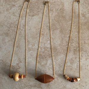 3 vintage necklaces